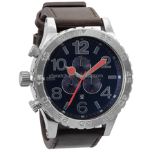 YB 2015 hot product high quality stainless steel case chronograph leather strap watches for men wholesale