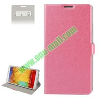 Wallet Pattern Hard PU Leather Case for Samsung Galaxy Note III with Holder and Card-slot