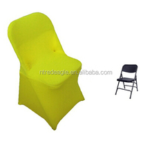 yellow polyester folding chair cover