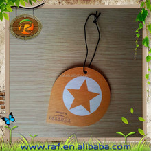 2015 fashion logo pringted Customized design wholesale Promotional hanging car shape top-new DIY scented paper car air freshener