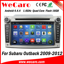Wecaro WC-SU7069 android 4.4.4 car gps for subaru outback 2009 2010 2011 2012 3G wifi playstore