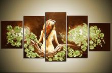 Fashion club washroom wall design nude sexy wall art painting