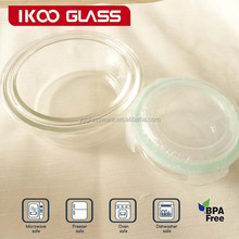 round heat resistant tempered glass vacuum container set for microwave or oven