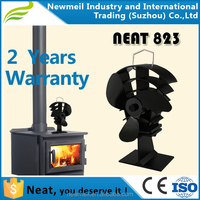 Customize Heat Powered Stove Fan Magaluma Alloy High Airflow Black/Silver/Gold Blades Fans For Wood Stove Fire Place Fans OEM