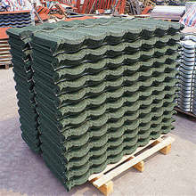metal roof ceramic roof tile guangdong high quality stone coated steel roof tile korea