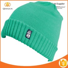 custom beanie with woven label,easy beanie knitting pattern,custom acrylic knitted cuff beanie