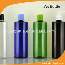 500ML flat shoulder plastic clear PET bottle