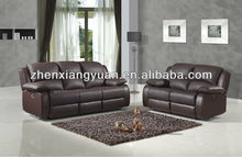 Living room sofas BONDED LEATHER RECLINER SOFA 3+2 suite in Brown