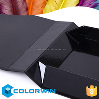 black color foldable magnetic closure gift box