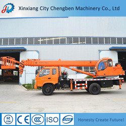 Super Street Light Working 8 Ton Pickup Truck Crane with Double Winch