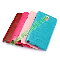 Crazy Horse Texture PU Leather Coated Plastic Back Fancy Cover for Samsung Galaxy Note 3 Case with Card Slot