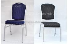 Barato moda empilhável de alumínio cadeira do banquete