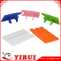 YJ019 2015 cheap hot sale 3M gel silicone mobile phone pocket with stand