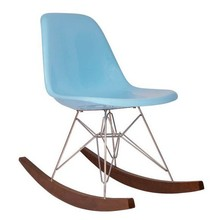 JH-128 fiberglass rocking chair with stainless legs wooden base