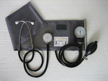 Classic Nylon Cuff-mounted aneroid sphygmomanometer with stethoscope,blood pressure meter,blood pressure monitor