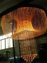 Iluminación de la fábrica 10 años araña de fibra óptica experiance, alta calidad de luz de fibra óptica