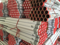Fashionable red paper tube paper cardboard tubes