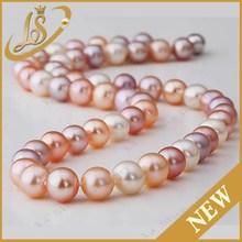 ronda de perlas de agua dulce hebra de perlas al por mayor para la fabricación de horterada