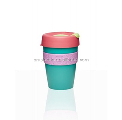 OEM plastic coffee cup, make your own plastic tea mug, lovely PP coffee tea cups