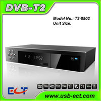 Free to air HD DVB-T2 decorder STB terrestrial receiver with PVR USB MPEG4 full hd 1080p