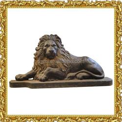 Antique Large Animal Cast Iron Lion Statue for Garden Decoration