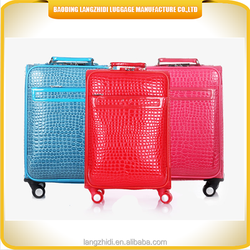 Best leisure international PU leather trolley luggage travel suitcase set for 2015
