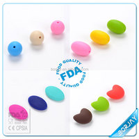 Food Grade Silicone Teething Beads Round For Jewelry