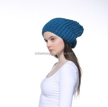 high quality ladies crocheted knitted winter hat