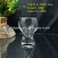 clear mini glass wine trail