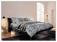 Top Quality Baby Kids Black White Bedding set, factory outset kids cartoon bedding set
