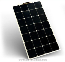 suncells for boat semi flexible solar photovoltaic module panel 80w