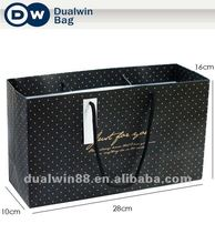 Custom logo printing gift package shop item wrapping bag