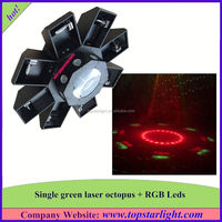 guangzhou factory supply single green+177*10mm rgb leds green laser octopus mini laser light show projector
