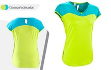 high quality in low price wholesalecwoman athletic shirt