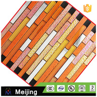 Foshionable hot melt ancient boat wood mosaic tile for interior wall panels alibaba website