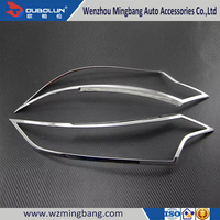 Perfect Match!!! Car Accessories head light trim Chrome Headlight Cover for 2016 Mitsubishi Outlander