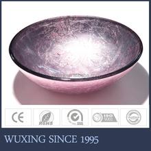 Made in China handcraft painting popular fancy light purple bathroom sink