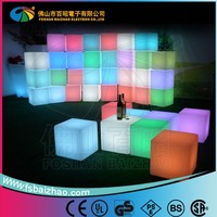 Outdoor 40cm RGB Color Change Night Club, Party LED Cube,waterproof led cube chair lighting