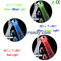 3 water jets temperature control 3 colors light LED hydro-electric power shower LD8008-A20