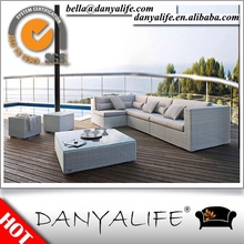 DYSF-JN47 Danyalife Hot Selling Outdoor Furniture PE Rattan Patio Sectional Sofas