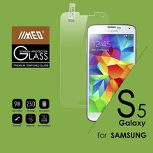 Clear gold tempered glass screen protector for Samsung Galaxy S5