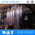 W & T llevó estrellas cortina de tela made in China