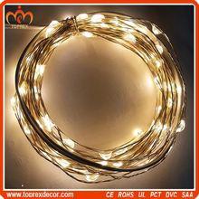Party Decoration unique 100 LEDs led lights copper wire for Christmas