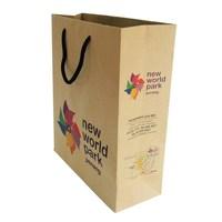 Cute shopping paper bags woman