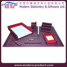 Desktop Luxury Stationery Faux White Office Leather Desk Set
