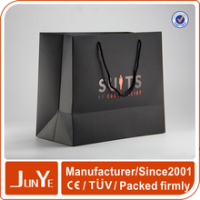 New design factory supply black kraft paper carry bag