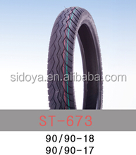 jiaonan factory produce high quality motorcycle tube and tubeless tires 90/90-17