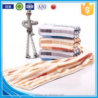 Trade assuranc stripe baumwolle cotton color woven wholesale bath towels