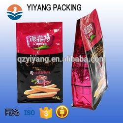 Flexível Reforço Lateral de Plástico Rosa Sacos de Embalagem de Chá Oolong