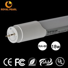 UL 1800LM 4FT 18W T8 LED Tube lights isolated UL recognized driver